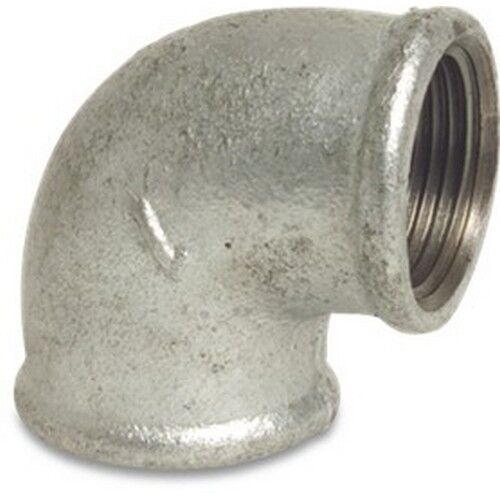 Galvanised Malleable Iron Pipe Fitting 90 Degree Elbow Female x Female