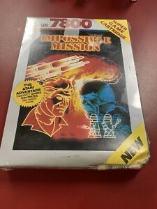 Atari-7800-IMPOSSIBLE-MISSION-Video-Game-FACTORY-SEALED-RARE