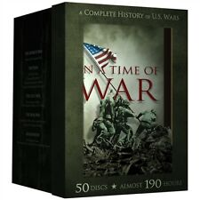 IN A TIME OF WAR A COMPLETE HISTORY OF US WARS New 50 DVD Set 189 Hours