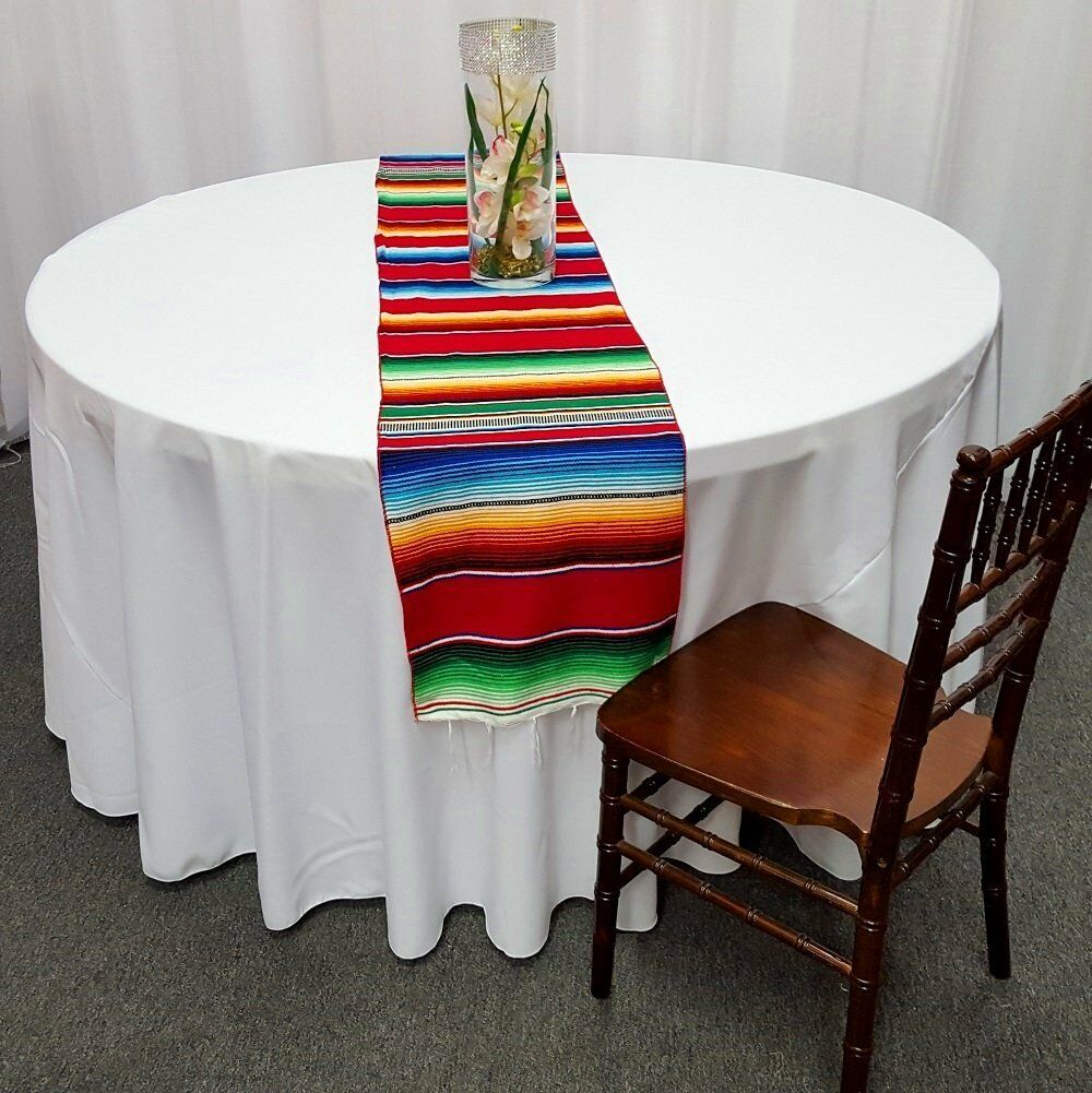12 Mexican Serape Table Runners 15  x 84  Saltillo Sarape Wedding Party Made USA