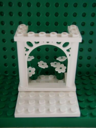 NEW LEGO WEDDING ARCH CAKE TOPPER with  FLOWERS AND BASE PLATE