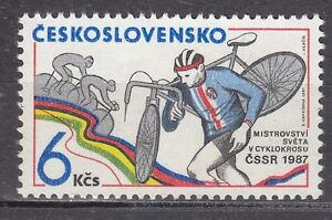CZECHOSLOVAKIA-1987-MNH-SC-2640-World-Cyclocross