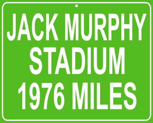 "Jack Murphy Stadium San Diego Chargers /& Padres 11/""x14/"" mileage sign your house"