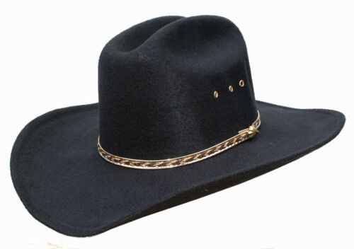 MENS OR LADIES COUNTRY WESTERN COWBOY STETSON BLACK CATTLEMAN HAT LINE DANCING