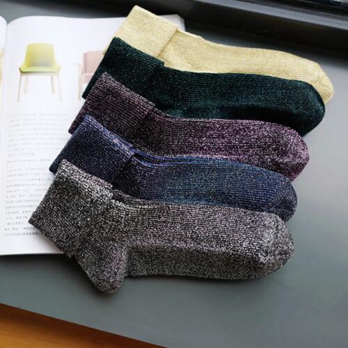 Shining Socks Warmer Autumn Winter Thickened Knitted Thermal Women/'s Socks.//