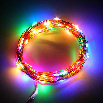 2/5/10M Button Battery Operated LED Copper Wire String Fairy Lights Xmas Party C