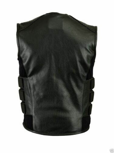 leather vest Nuovo Pistola Con Tasche motorcycle vest bullet proof Men biker d6qZRRnpY