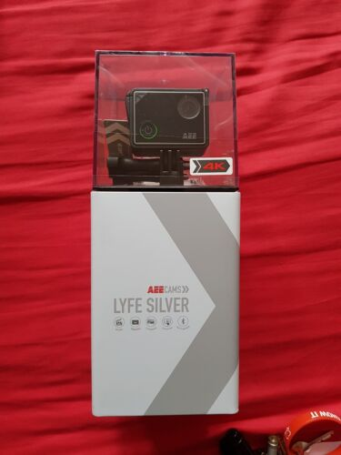 New AEE Cam Lyfe Silver 4K 1080p Waterproof Touch Screen Helmet ACTION CAMERA