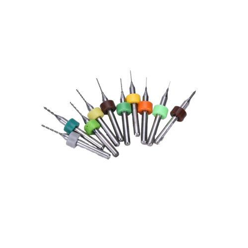 10x 0.1~1.0mm PCB Print Circuit Board Carbide CNC Mini Mini Drill Bits ToolWEB