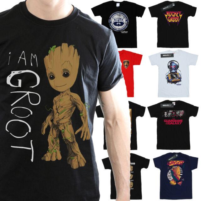 Marvel Men/'s Guardians Of The Galaxy Rocket Powered T-Shirt