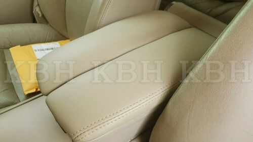 Leather Armrest Center Console Lid Cover Fits for Acura RL 2005-2010 Beige Tan