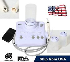 Dental Electric Ultrasonic Scaler 2 Bottles With Handpiece Tips Fit Cavitron Ems