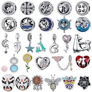 Wostu-2019-New-Mutiple-Charm-Beads-925-Sterling-Silver-Pendant-Fit-Bracelet-Gift