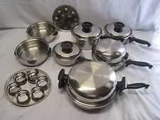 20 Piece Towncraft Chefs Ware Multi Core Stainless Steel Waterless Cookware Set