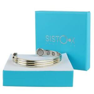 Super-Fort-Bracelet-Magnetique-Bracelet-Or-amp-Chrome-6-Aimants-Sante-Terre-Rare