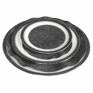 Image is loading Felt-Plate-Protectors-Grey-Dividers-Friction-Soft-Serving-  sc 1 st  eBay : dinnerware protectors - pezcame.com