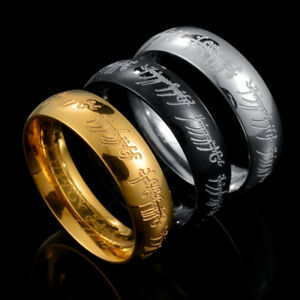 Lord-of-the-Rings-The-One-Ring-Power-Band-6mm-Unisex-Stainless-Steel-Size-6-13