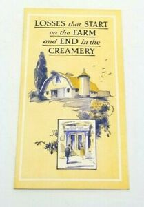 1946 DE LAVAL CREAM SEPARATOR Sales Brochure Farm Dairy Milk Tri-Fold 6.5x9.NOS