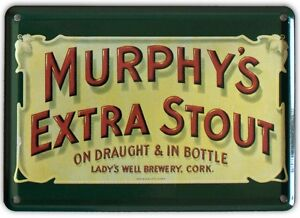 MURPHYS-EXTRA-IRISH-STOUT-Small-Vintage-Metal-Tin-Pub-Sign
