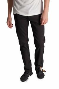 KAYDEN-K-Men-039-s-Slim-Fit-Jeans-BLACK-Twill-Denim-Pants-Size-30-40