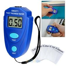 Digital Auto Car Paint Coating Thickness Tester Measuring Gauge Meter Kit Em2271