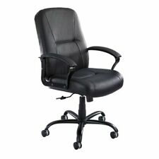 Safco Serenity Big And Tall Highback Executive Chair Leather Black Seat Back