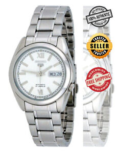 Seiko-5-Automatic-SNKL51-SNKL51K1-Mens-Day-Date-Stainless-Steel-Watch