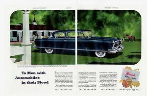 1952-2-PAGE-ORIGINAL-VINTAGE-CENTERFOLD-NASH-CAR-MAGAZINE-AD