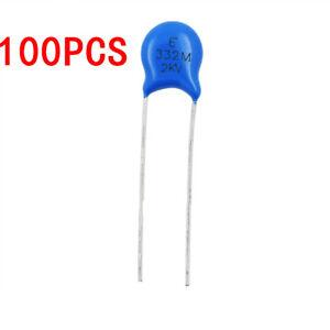 100PCS 2KV 3.3NF 20/% High-voltage Ceramic Capacitor 332M