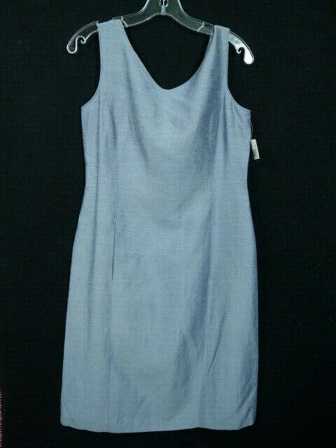 Dana Buchman Women's Blue  Linen Blend Dress Sleeveless Dress Size 6