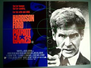 Patriot Games 1992 Original Mini Quad Poster Harrison Ford Ebay