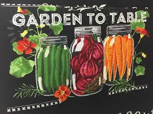 Mason-Jar-Summer-Salad-Valance-HaNdMaDe-Window-Topper-Cotton-fabric-43-034-W-x-15-034-L