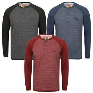 New-Mens-Tokyo-Laundry-Sephro-Raglan-Long-Sleeve-Henley-T-shirt-Top-Size-S-XL