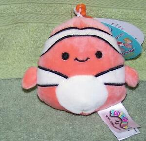 Squishmallows-Ricky-Clownfish-3-5-034-H-Clip-on-NWT
