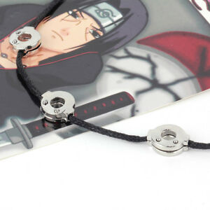 Naruto-Akatsuki-Uchiha-Itachi-Metal-Cosplay-Necklace-3-Beads-Pendant