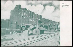SCRANTON-PA-Coal-Breaker-Vintage-B-amp-W-UDB-Postcard-Early-Old-Pennsylvania-Mining