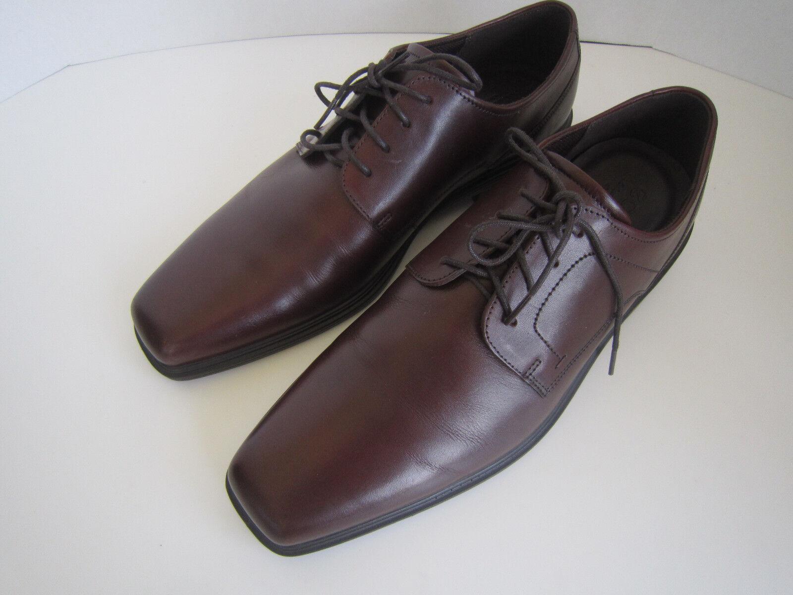 28ca7ebff7a0 ... ECCO Johannesburg Plain Plain Plain Toe Derby Brown Leather Men s  Oxfords shoes Eu46 Us11.5 ...