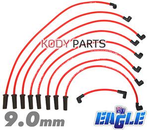 Eagle 9mm Ignition Spark Plug Leads Commodore VN VP VR VS VT V8 Colour Red