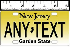 Personalized New Jersey Bicycle State License Plate Replica