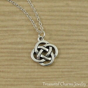 Silver celtic knot charm necklace irish st patricks gaelic la foto se est cargando silver celtic knot charm necklace irish st patrick aloadofball Gallery