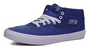 78e685d93e Image is loading Vans-Half-Cab-Mens-Canvas-Blueprint-Skateboard-Shoes-