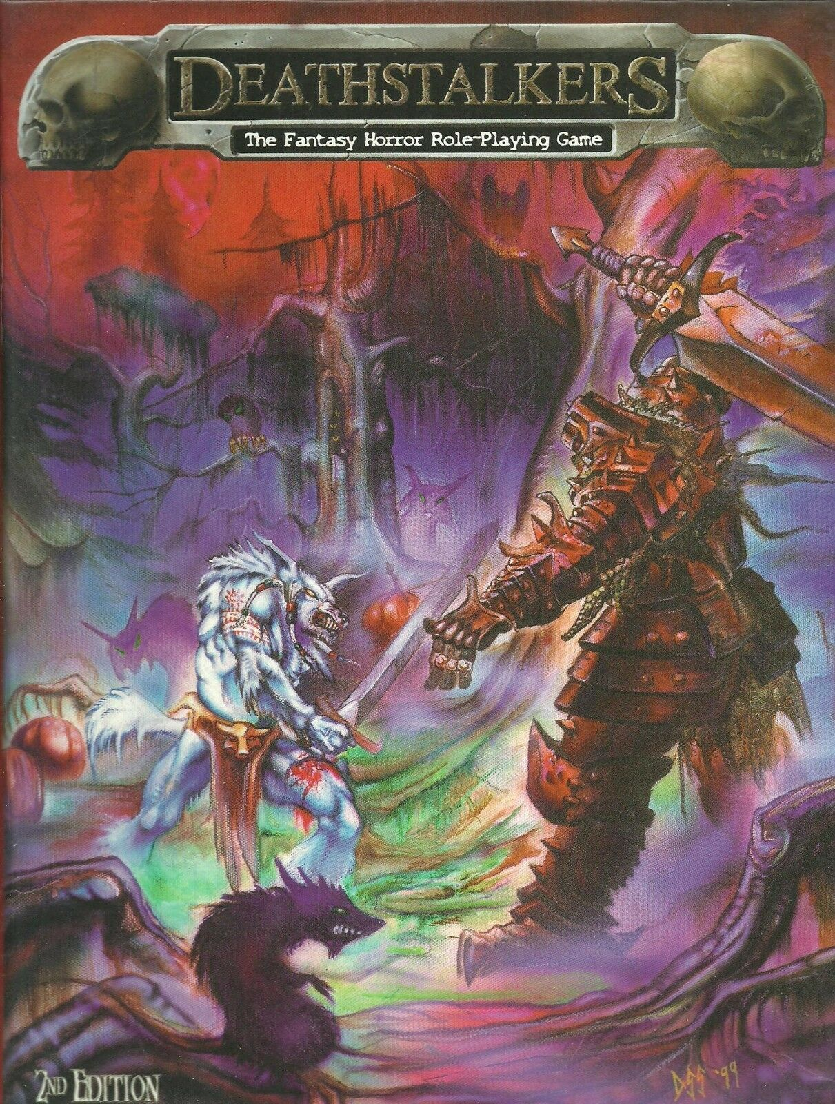 Deathstalkers - The Fantasy-Horror Role Playing Game Core Rules Hard Cover *FS