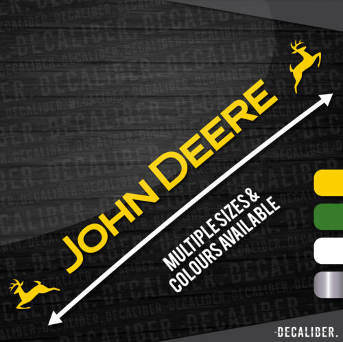 Decal John Deere Tractor Window Sticker Sunstrip Multiple Colours