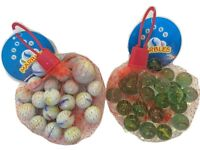 KIDS CHILDRENS 20+1 MARBLES TOY CLEAR GLASS OR MILKY WHITE PARTY BAG FILLER
