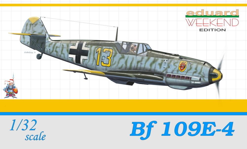 MESSERSCHMITT Bf-109 E-4 (LUFTWAFFE BATTLE OF BRITTAINE MARKINGS) 1 32 EDUARD