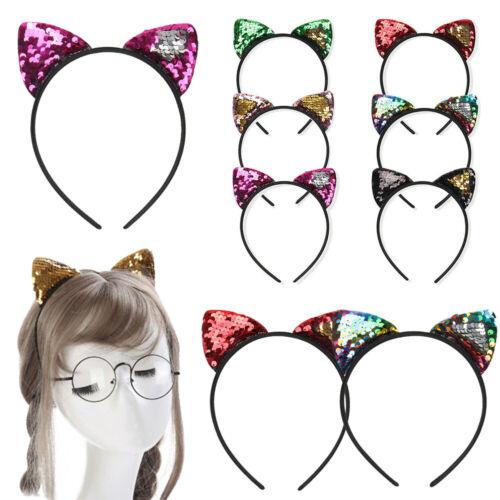 Glitter Sequins Cat Ear Hairband Headband Headwear Kids Gift Hair Accessories