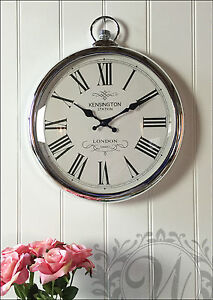New Large Kensington Station Silver Pocket Watch Wall