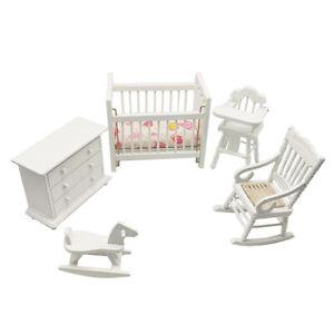 Mini-Schaukelbett-Fuer-1-12-Puppenhaus-Baby-Zimmer-Schlafzimmer-Dekor