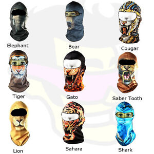 Animal Lion Tiger Bear Biker Motorcycle Winter Full Balaclava Ski Face Mask Ebay