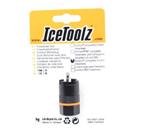 IceToolz 09F3 Suntour Compatible 4-Notch Bike Bicycle Freewheel Cassette Tool